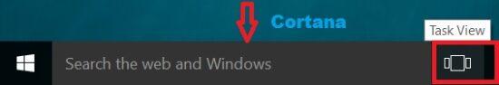 taskview button in windows 10 taskbar