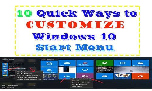 10 Quick Ways to Customize Windows 10 Start Menu