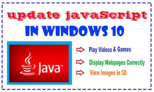 update javascript in windows 10 computer