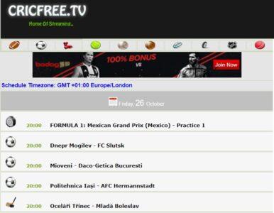 cricfree live sports stream