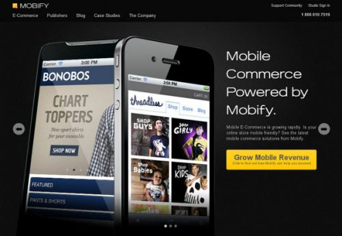 mobify to convert website to mobile site