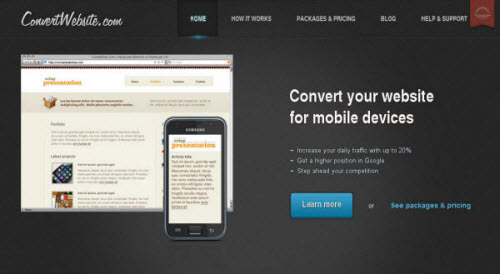 Convert your website to Mobilesite