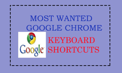 Google Chrome keyboard shortcuts