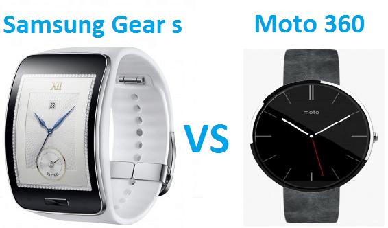 samsung gear s vs moto 360 smart watches comparison
