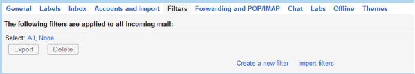 create a gmail filter