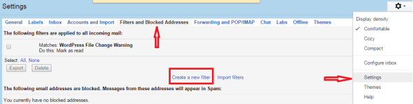 automatically delete spam emails