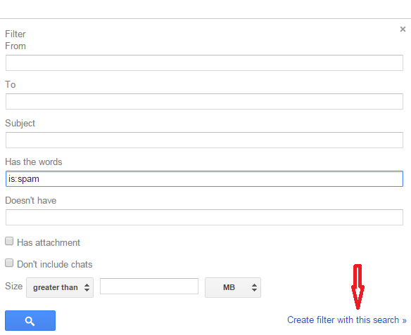 delete spam emails in gmail