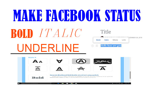 make facebook status stylish strikethrough generator