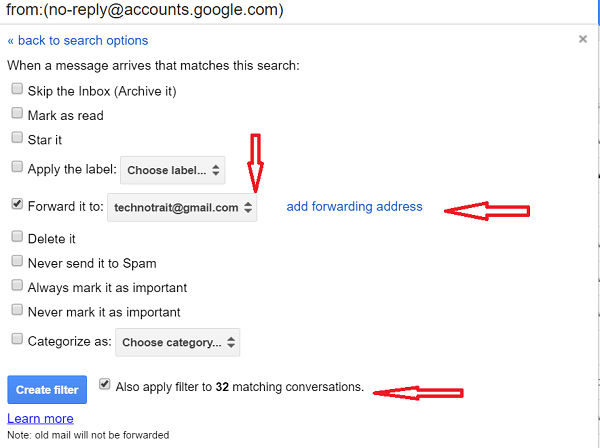 forward the email automaticallt