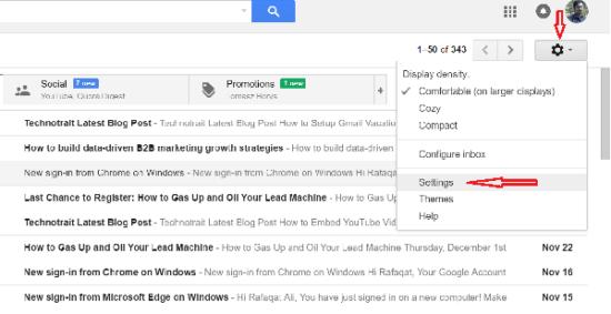 gmail auto forward