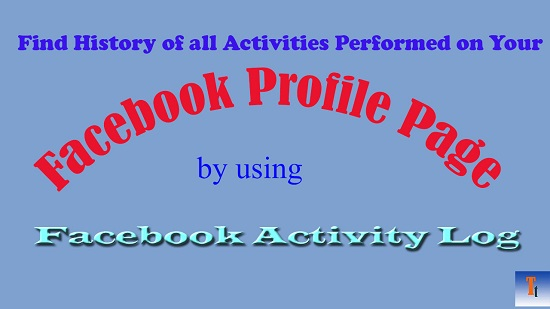 facebook activity log feature