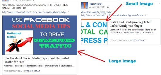 Facebook social media tips for large and small image