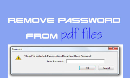 Remove PDF Password Protection