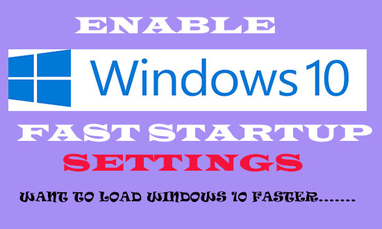 windows 10 fast boot settings