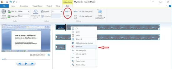 windows movie maker crop video