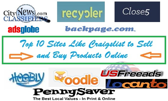 Top 10 sites like craigslist to sell and buy products for Buy and sell online sites