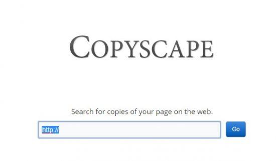 copyscape duplicate content checker tool