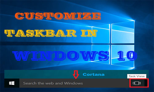 customize taskbar in windows 10