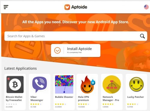 aptoide android market Google Play Store Alternative