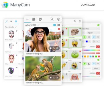 ManyCam free video Recorder for windows