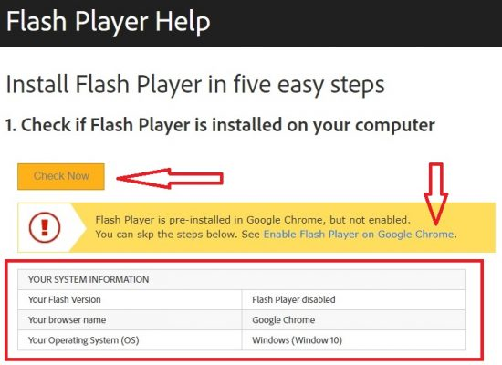 How to Test and Enable Adobe Flash Player in Your PC & Browser