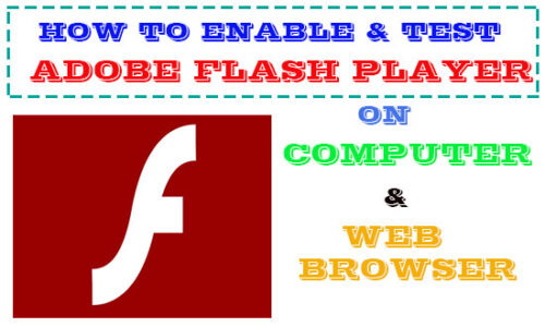 enable adobe flash player on computer and chrome