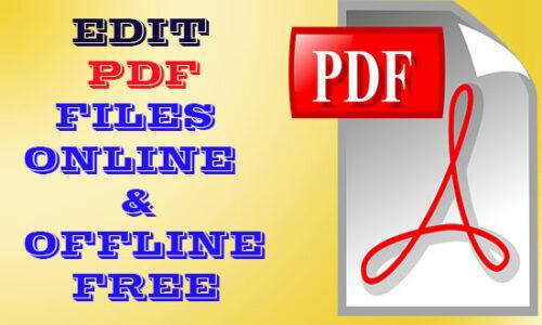 Edit PDF Files Online and Offline