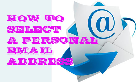 select personal email address