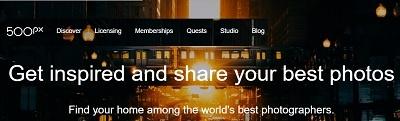 500px photo hosting site