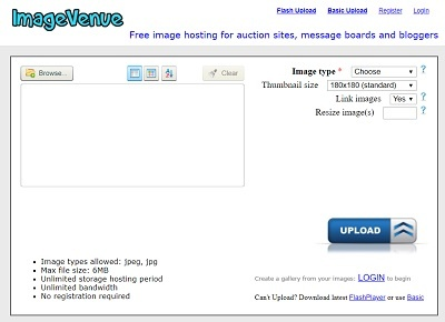 imagevenue photo hosting and sharing site