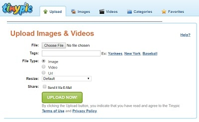 tinypic free image hosting and photo sharing website