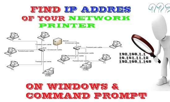 find printer ip address windows and command prompt
