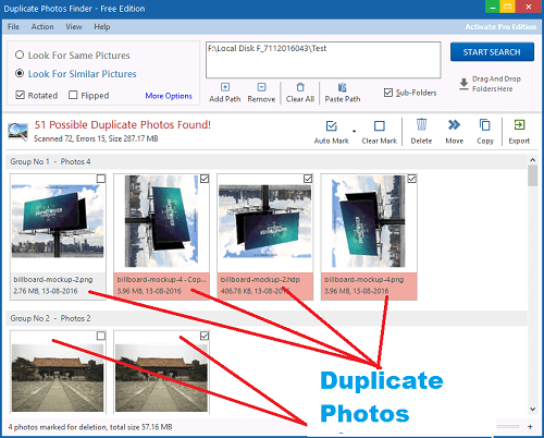 Find and fix duplicate photos