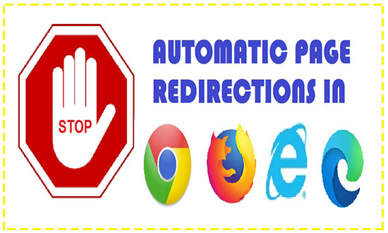 stop page redirects automatically in browsers