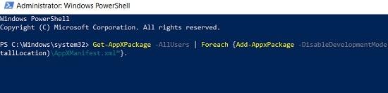 Registering the Taskbar using Windows Powershell