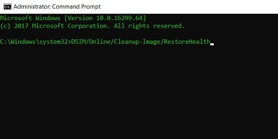 Restore the Taskbar's Health using Command Prompt