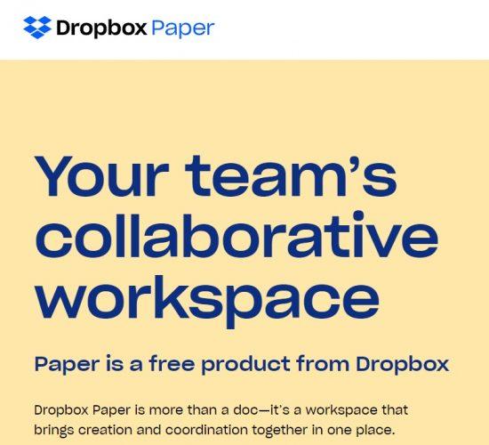 Dropbox Paper docs