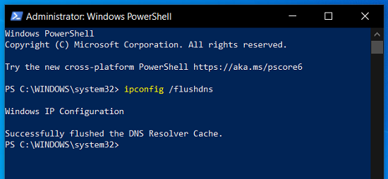 clear DNS Cache by Windows Powershell