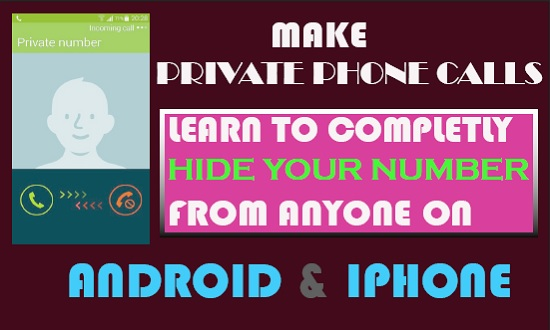 make private phone calls on android and iOS